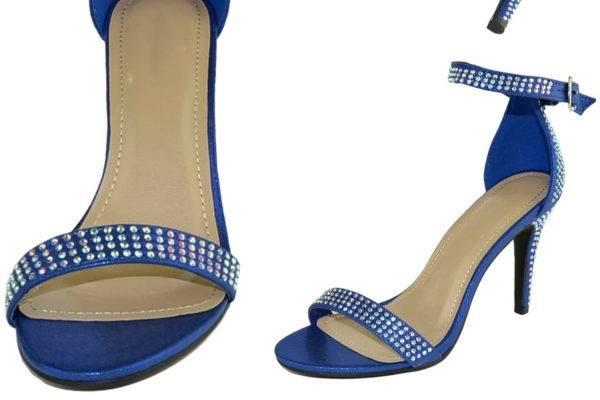 Rhinestone Royal Blue Shoe