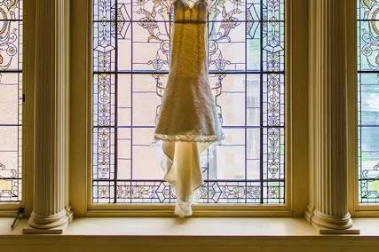 Wedding dress - photo by  Allan Levine