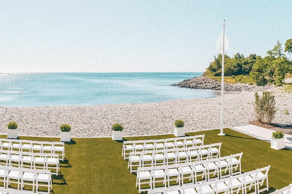 Beach stone terrace
