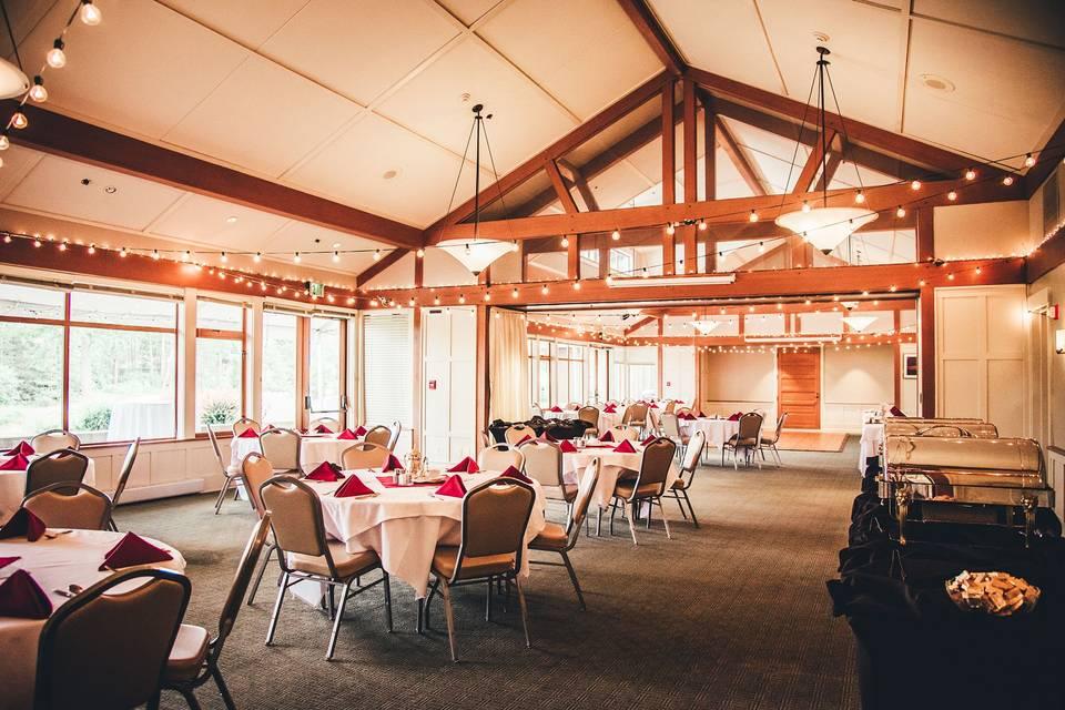 Trellis rooms reception