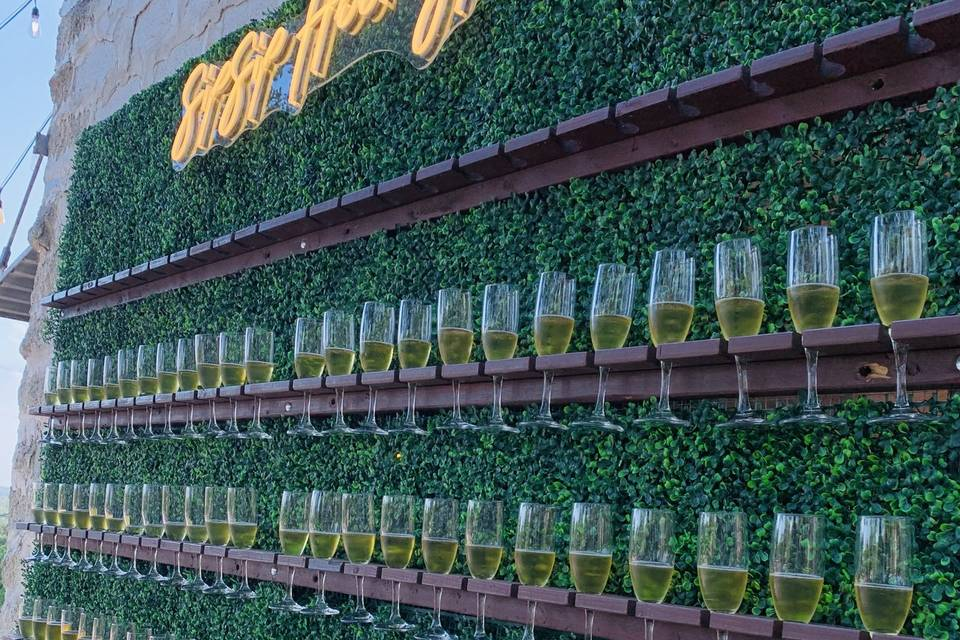 Champagne Wall Included