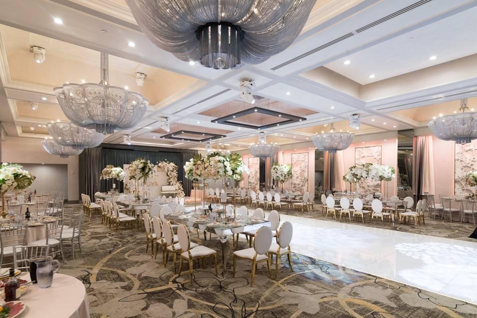 Elegantly appointed ballroom