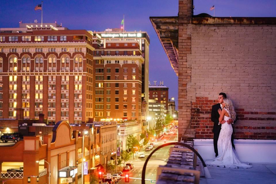 Beautiful rooftop city views