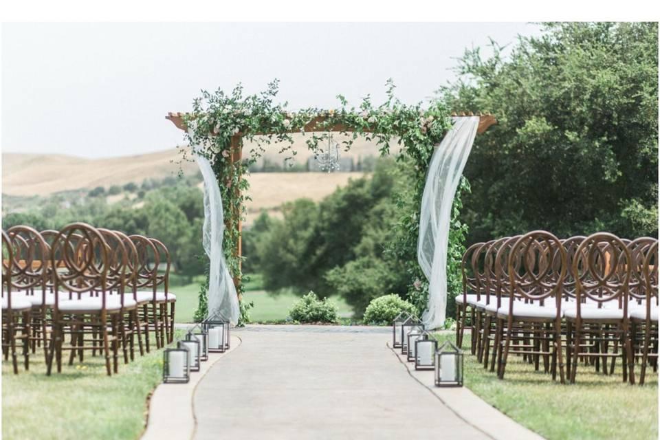 Romantic fairway view