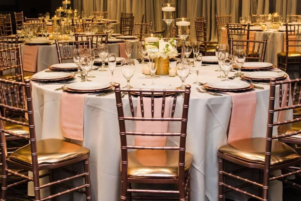 Ballroom table-settings