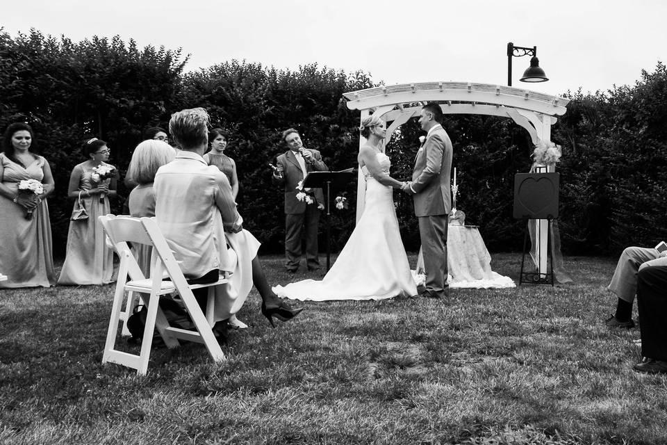 The ceremony in progress