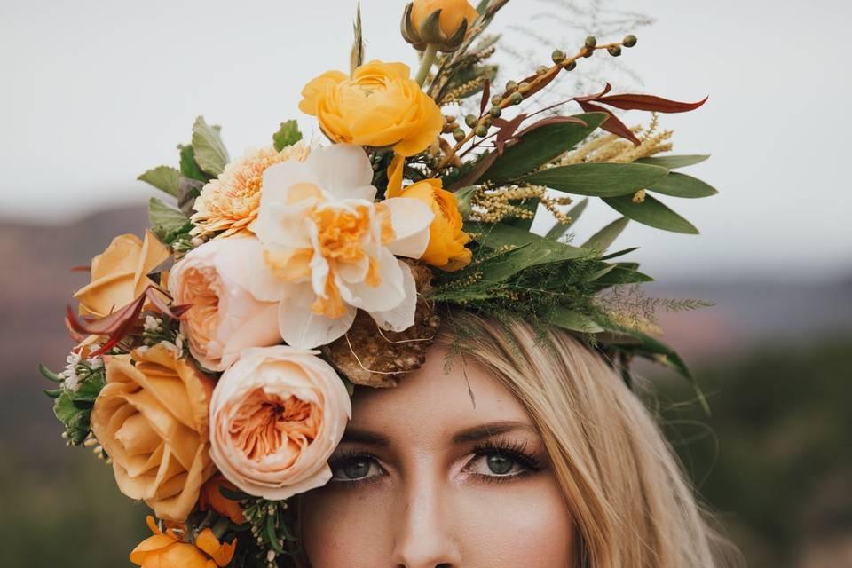 Flower head dress