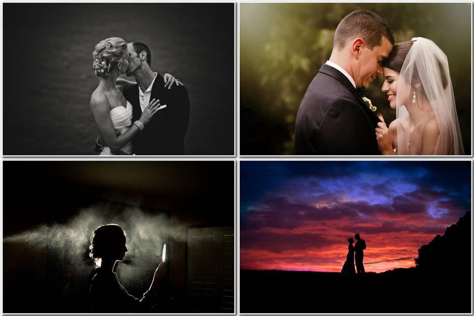 Wedding montage photography