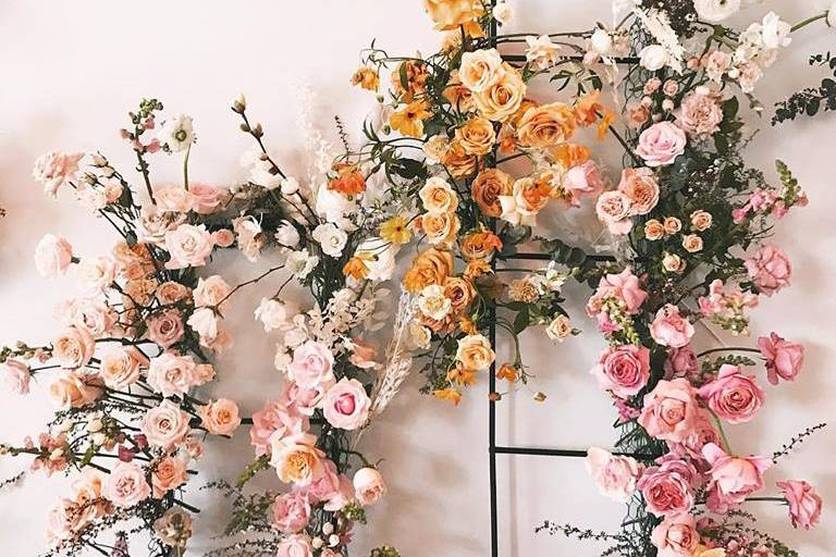 Ceremony floral installation