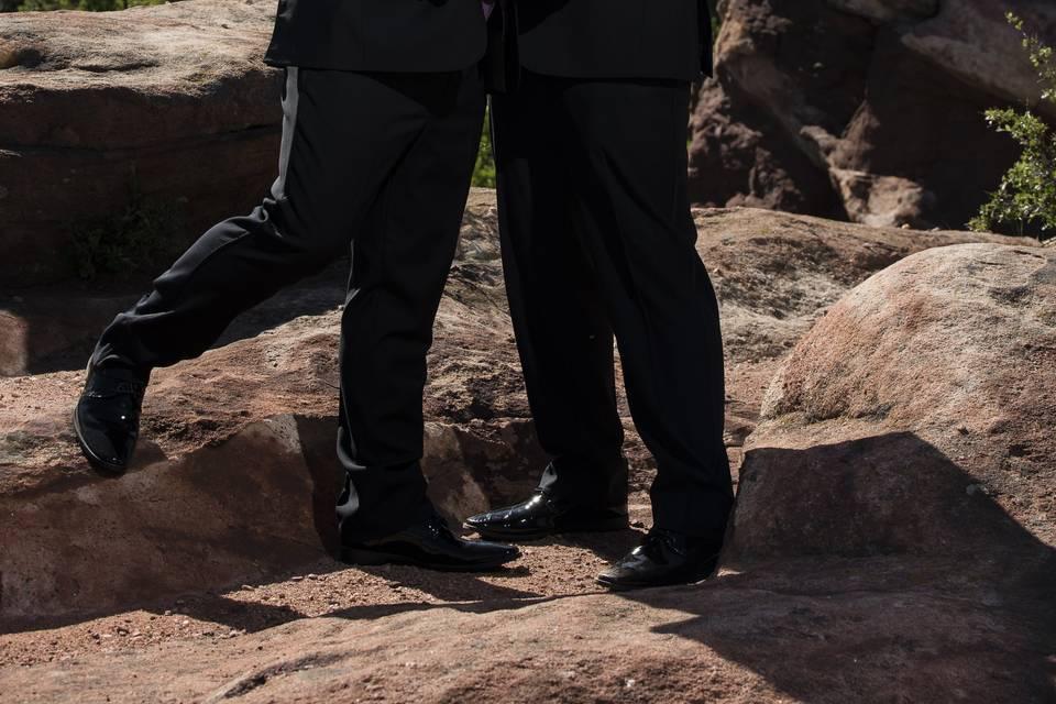 Wedding in Red Rocks, Colorado