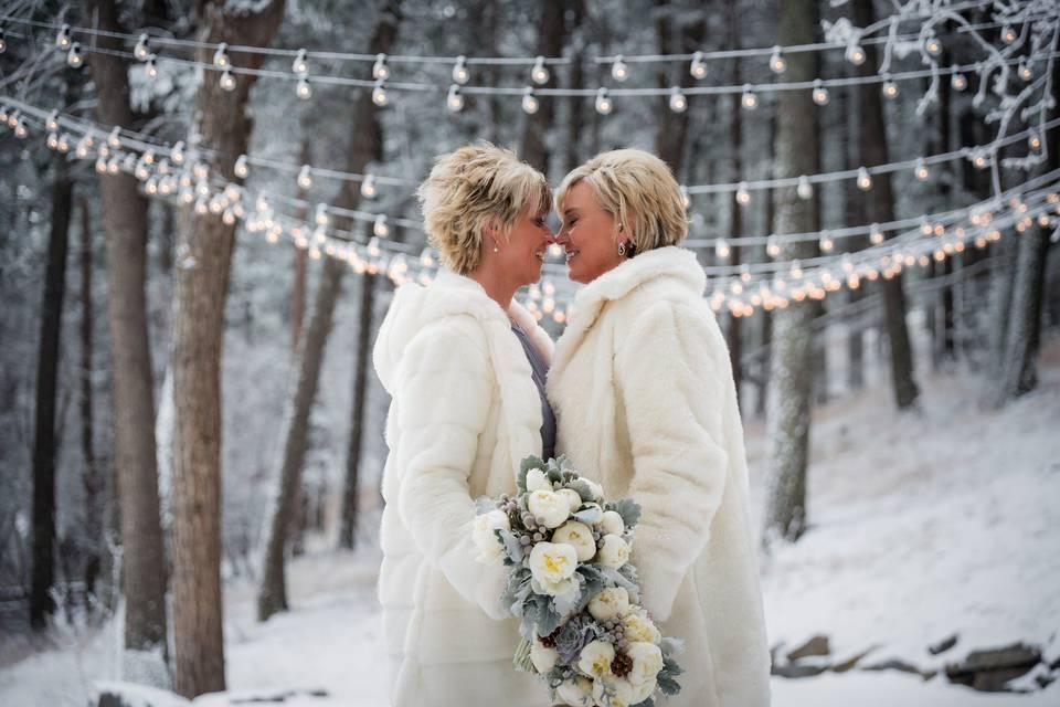 Love amid the snow