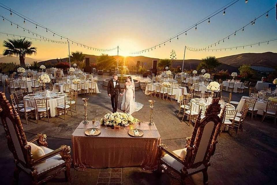 Gold & Blush Wedding Reception in Simi Valley