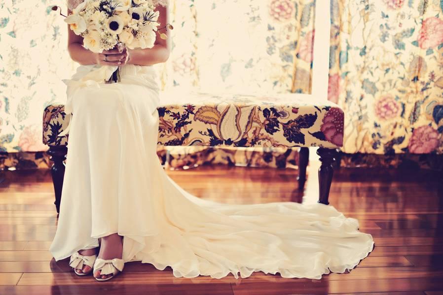 The wedding dress details