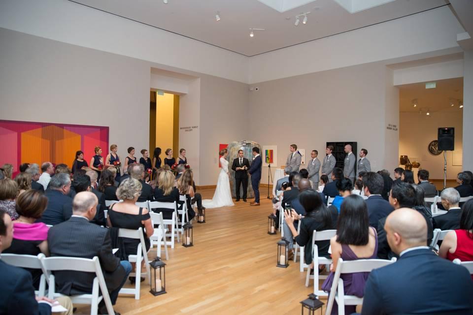 Davis Gallery ceremony