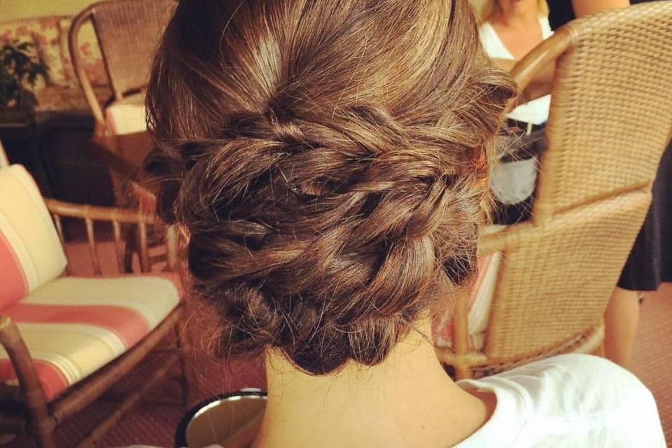 Bridal hair style braided