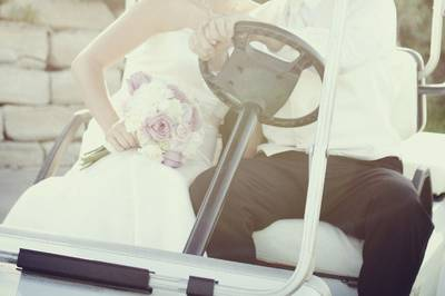 Kiss in the golf cart