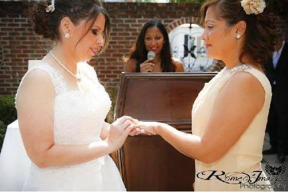 Iris and Eve Soto-Cruz's Wedding Ceremony at F&J Pine's Restaurant Bronx, NY Saturday, September 20, 2014