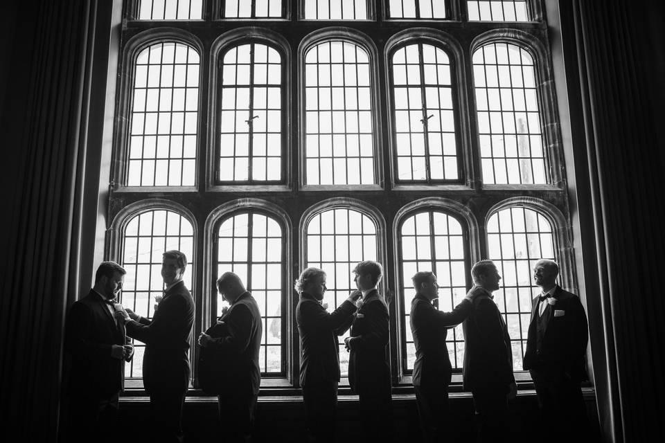 Groomsmen in the Tudor Ballroom
