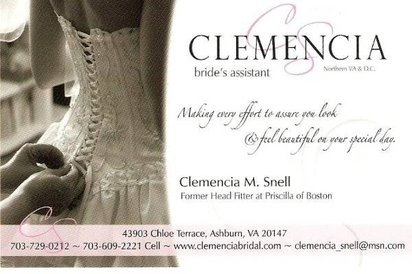 Clemencia Bridal Assistant
