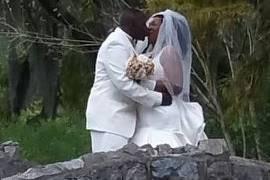 Wedding on City Park bridge