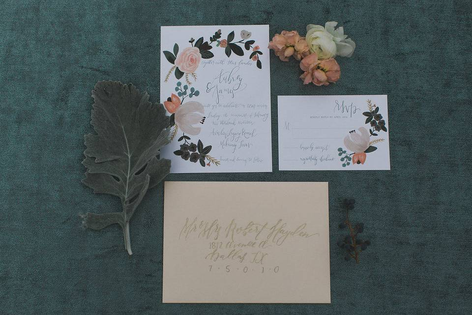 Invitation-Sugared Fig PaperieElle Boone Photography