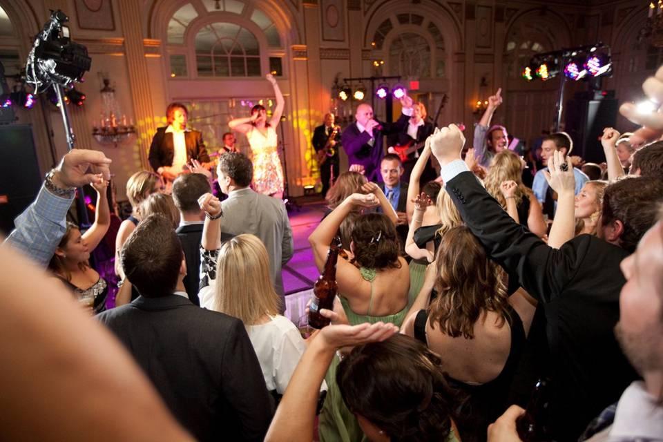 Wedding party fun