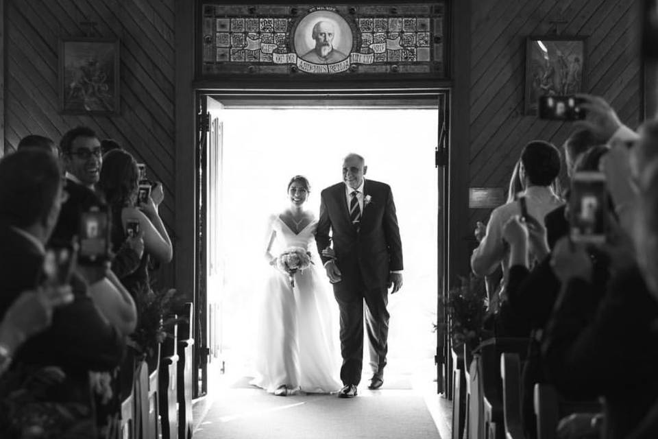 Bride in the aisle