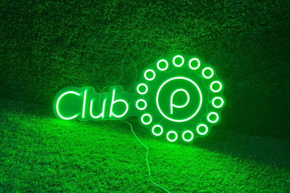 Green Neon with clear backing