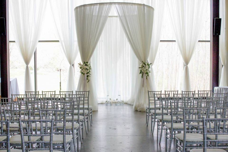 Sheer Canopy with backdrop