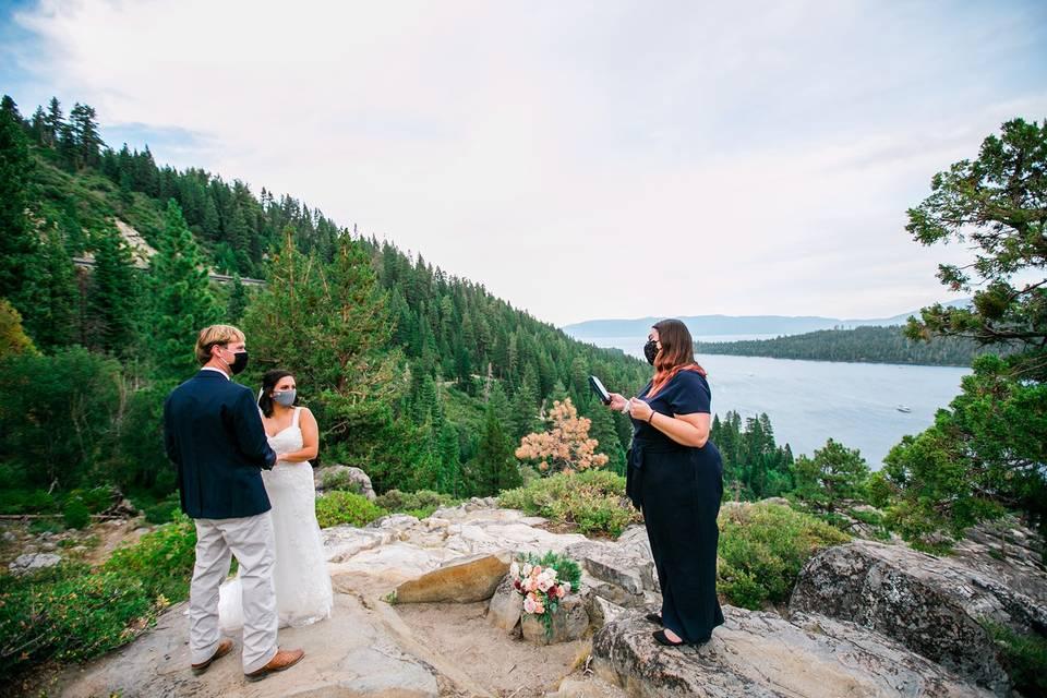 Emerald bay tahoe elopement