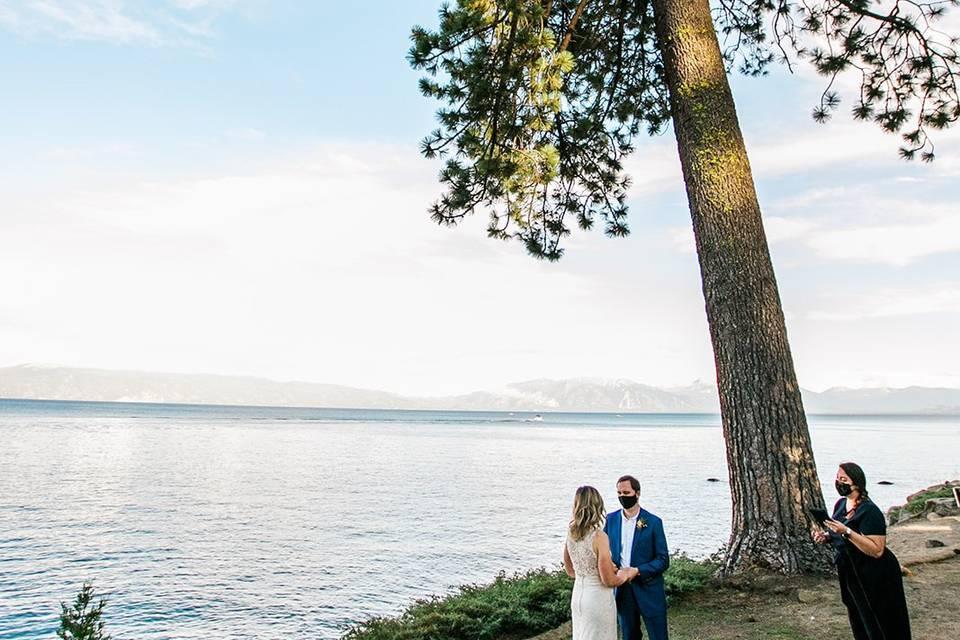 Lake tahoe covid elopement