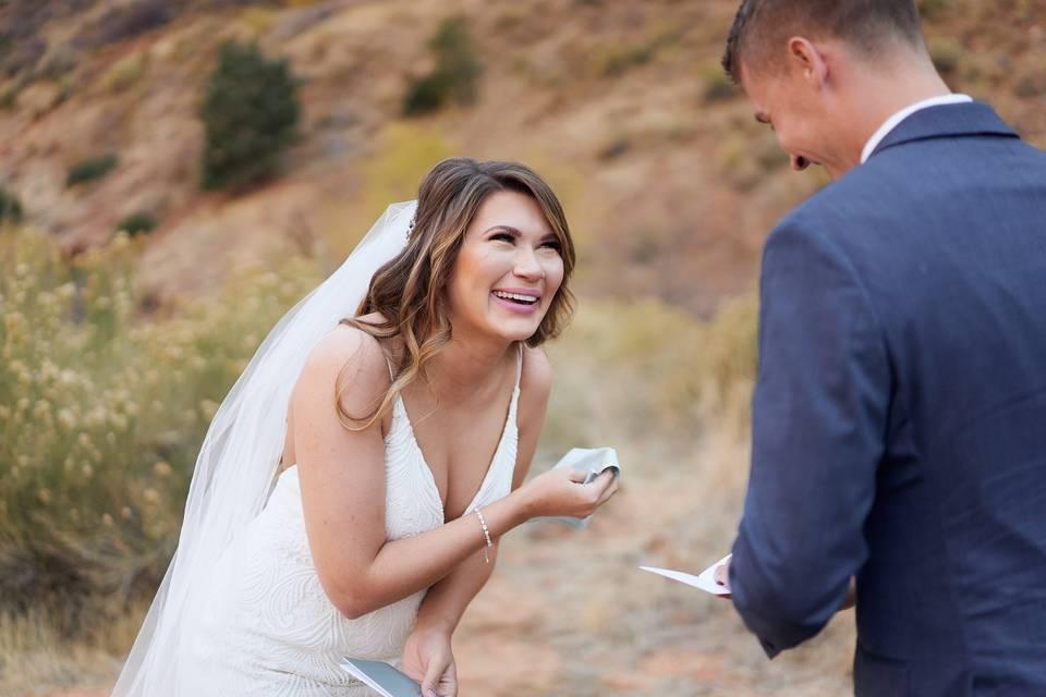 Zions Utah Wedding