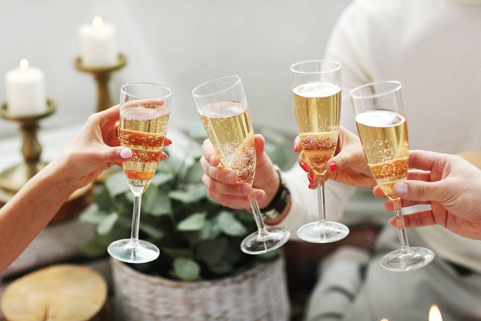 Toasting the special day