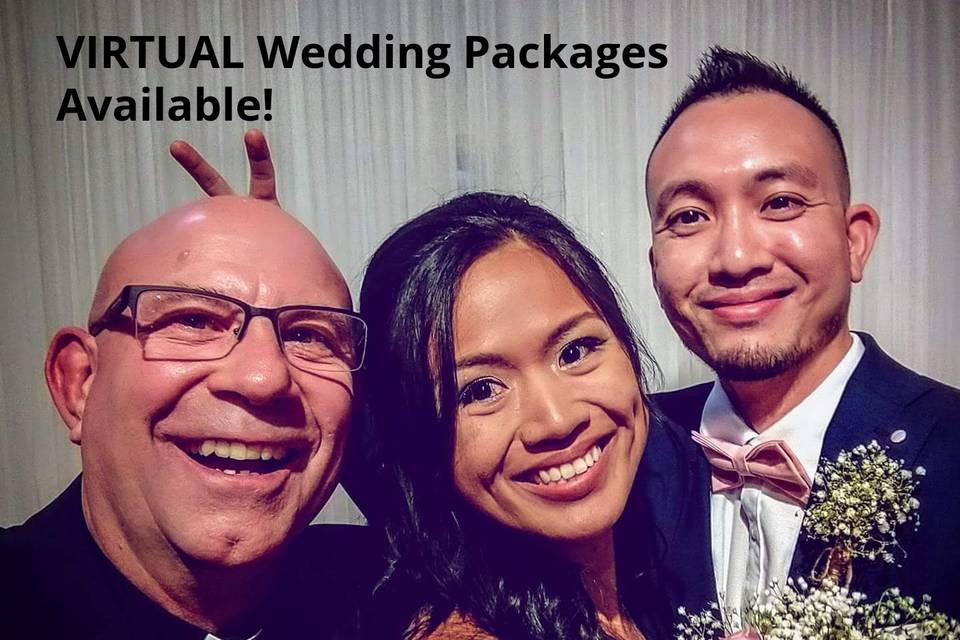 Now doing Virtual Weddings!