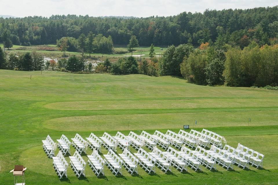 Ceremony Aerial View