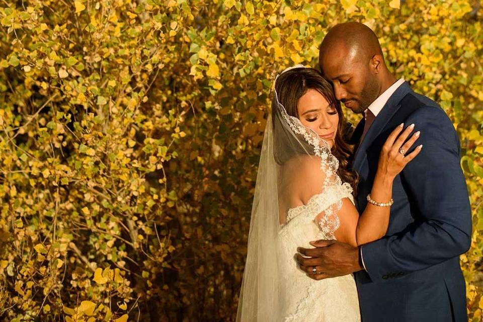 Wedding in the Fall in Big Bear