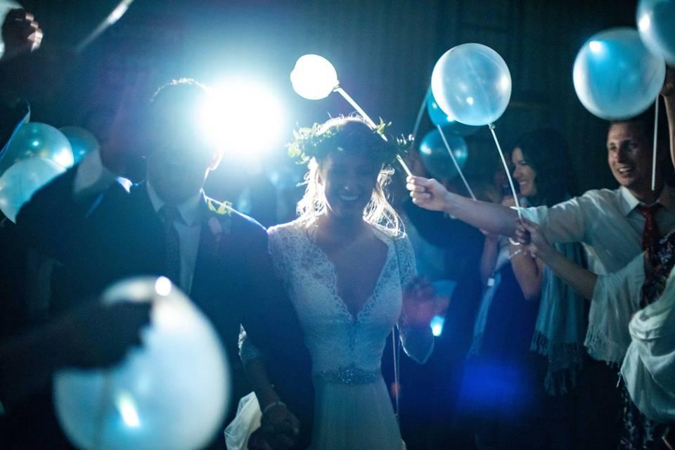 LED balloon sendoff