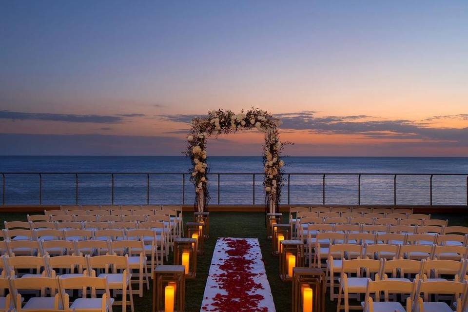 Ceremony site by the Gulf