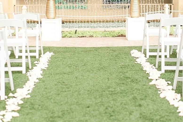 Pool Lawn ceremony