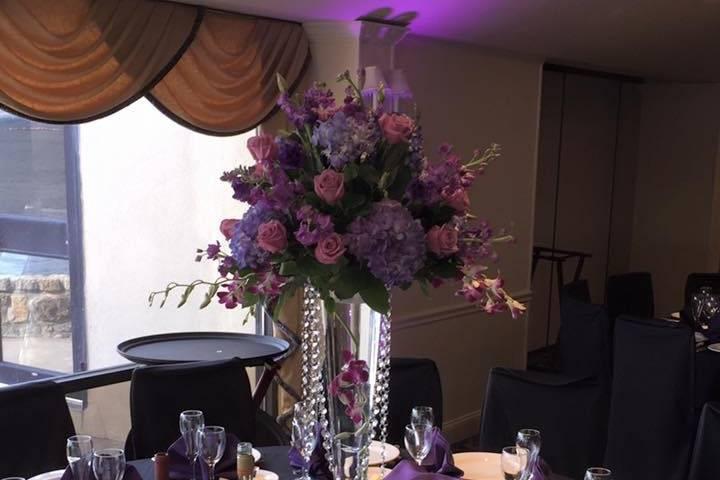 Purple themed venue