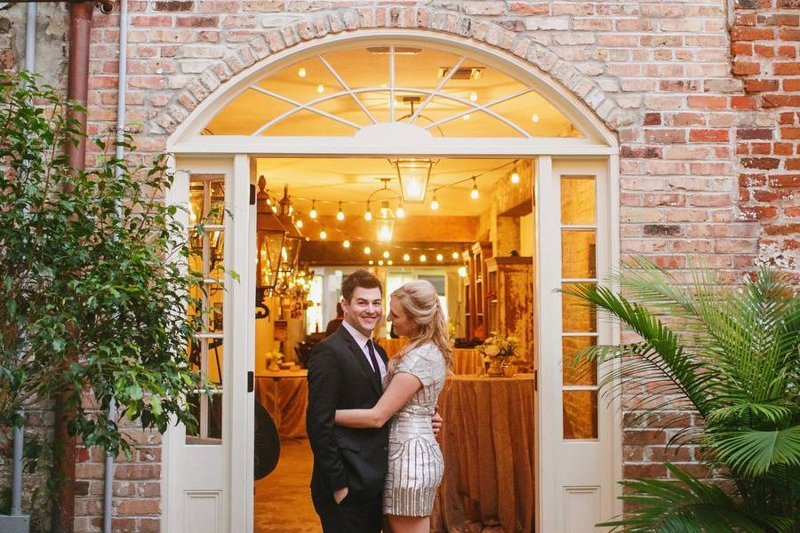Courtyard couple