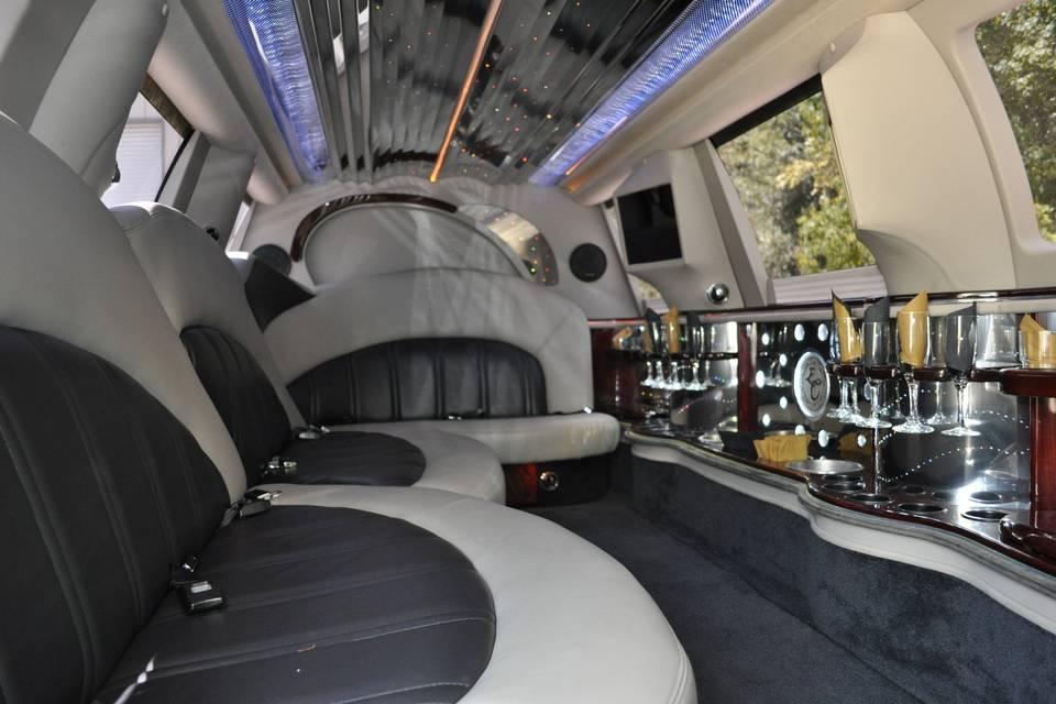 Stretch SUV interior