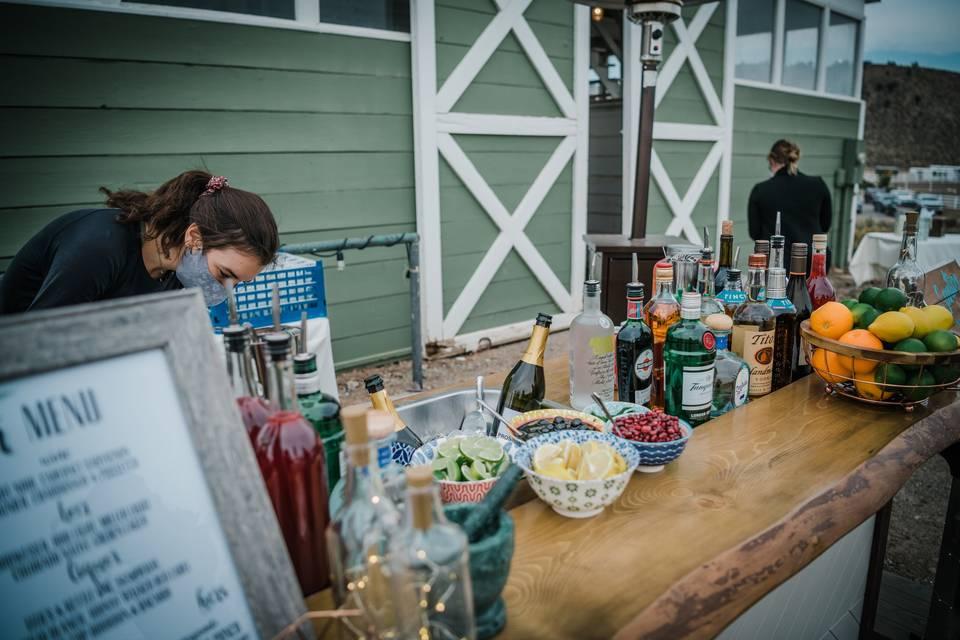 Bar by barn