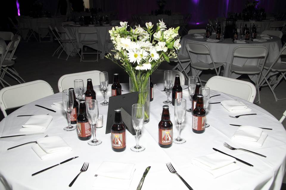 Table with beers