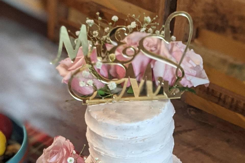 Flower& Pink Buttercream
