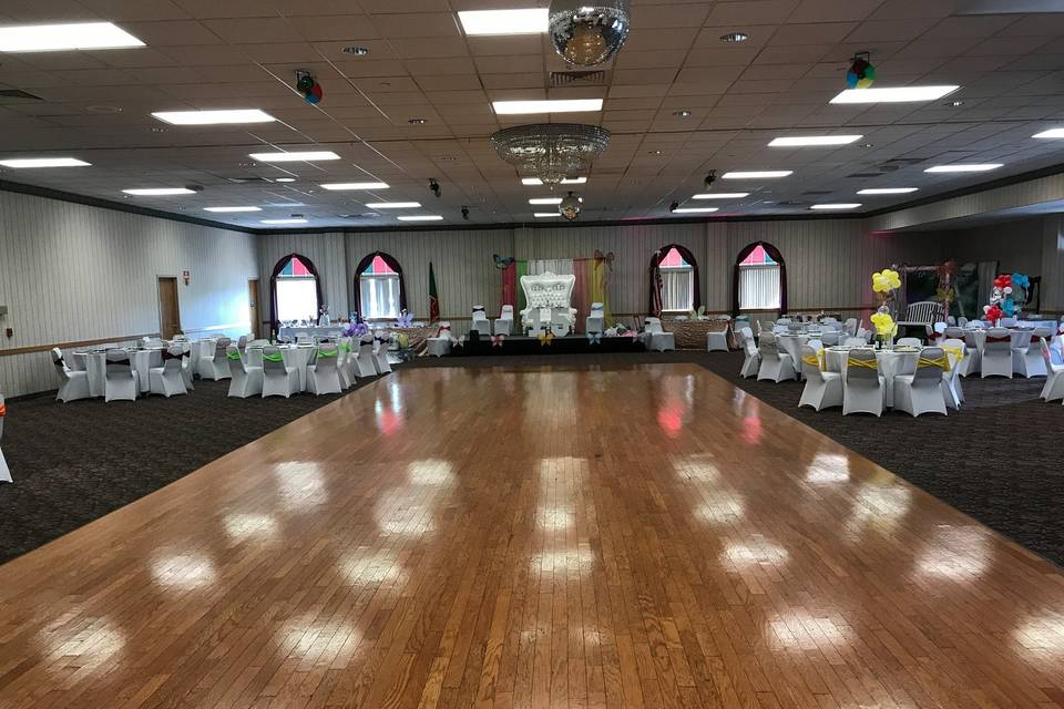 Beautiful dance floor
