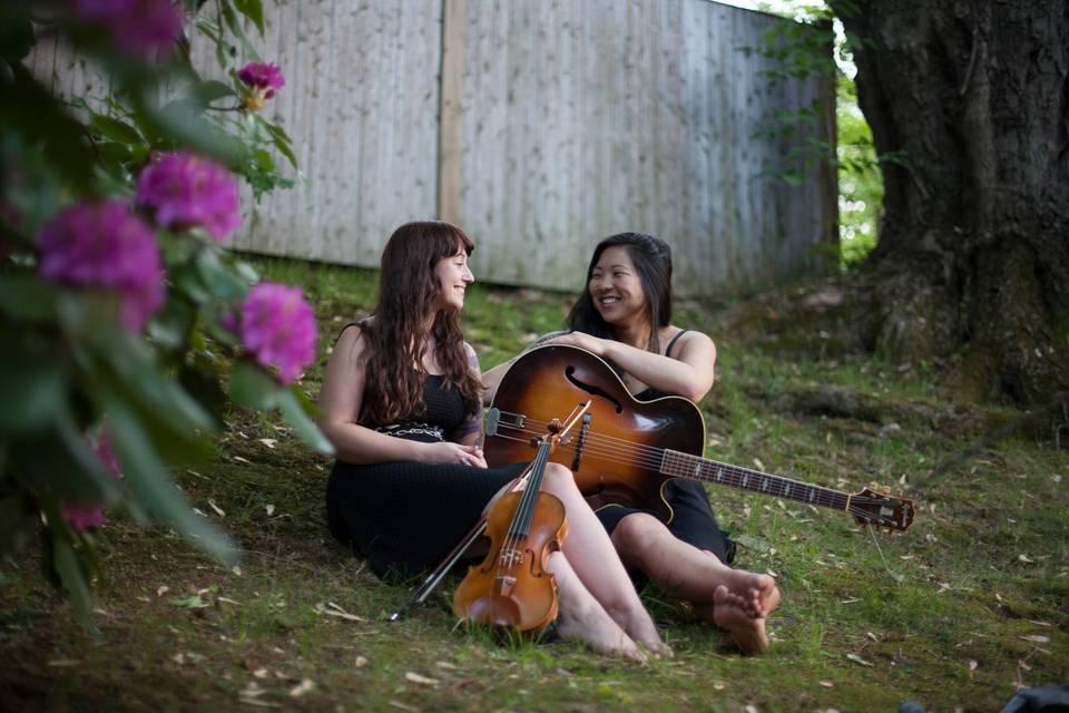 The Peppermints (versatile couple - violin, guitar, ukulele)