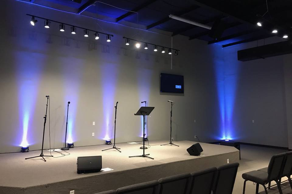 Stage in sanctuary
