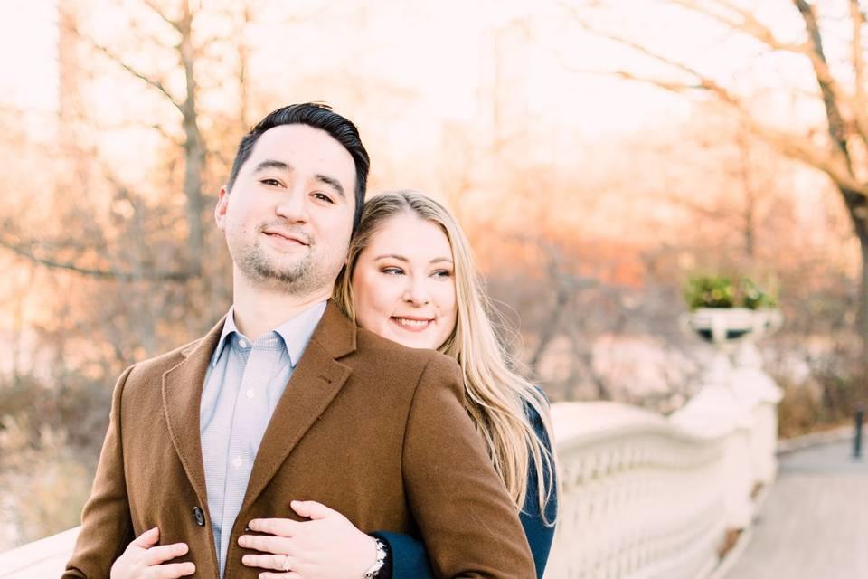 Outdoor engagement photoshoot