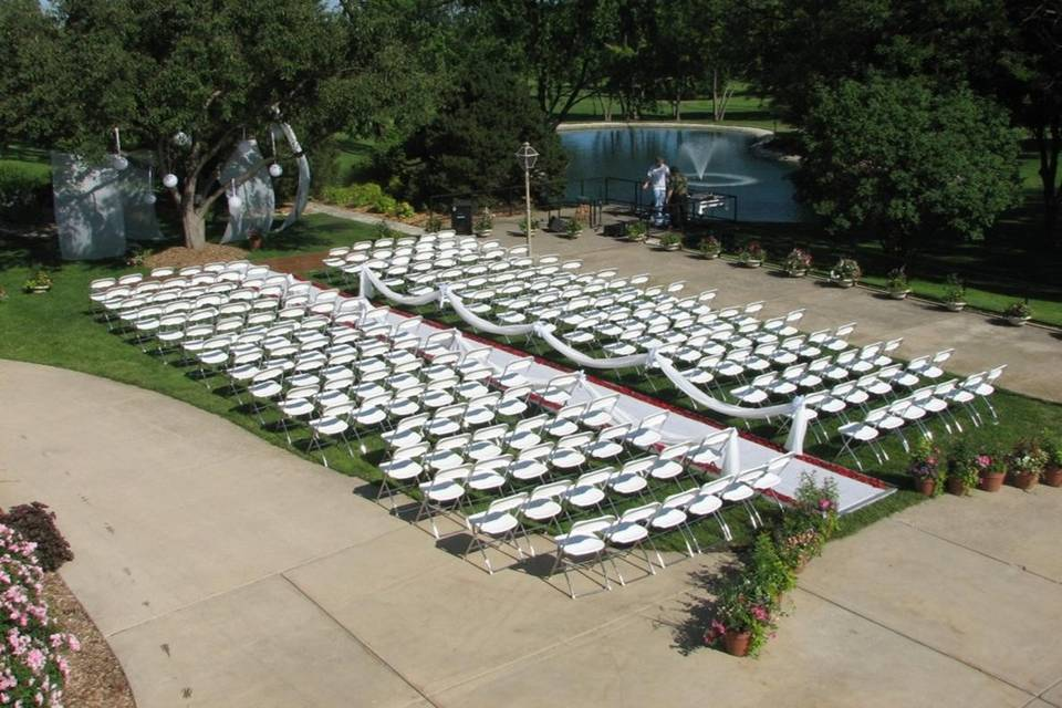 outside ceremony area